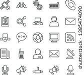 thin line vector icon set  ...   Shutterstock .eps vector #1385474090