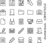 thin line vector icon set  ... | Shutterstock .eps vector #1385474213