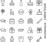 thin line vector icon set  ... | Shutterstock .eps vector #1385474240