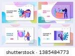 laundry service website landing ... | Shutterstock .eps vector #1385484773