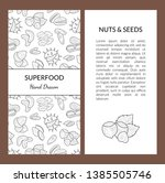 superfood card template with...   Shutterstock .eps vector #1385505746