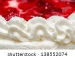 Whip Cream With Red Jelly