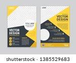 yellow  geometry brochure ... | Shutterstock .eps vector #1385529683