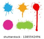 set of colorful splashes.color... | Shutterstock .eps vector #1385542496