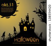 halloween background | Shutterstock . vector #138554420