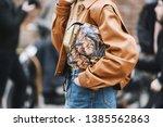 milan  italy   february 23 ... | Shutterstock . vector #1385562863