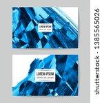 set of vector business card... | Shutterstock .eps vector #1385565026