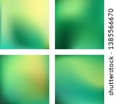 set with green abstract blurred ... | Shutterstock .eps vector #1385566670