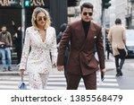 milan  italy   february 23 ...   Shutterstock . vector #1385568479