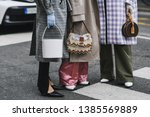 milan  italy   february 23 ...   Shutterstock . vector #1385569889