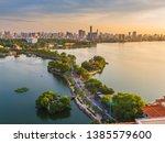 Hanoi sky view in sunset