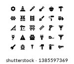 icons labor   construction  30  ... | Shutterstock .eps vector #1385597369