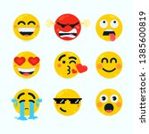 collection of flat emotional... | Shutterstock .eps vector #1385600819