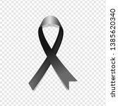 black awareness ribbon on... | Shutterstock .eps vector #1385620340