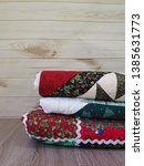Stack Of Three Christmas Quilt...