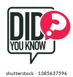 question or interesting fact... | Shutterstock .eps vector #1385637596
