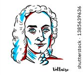 voltaire engraved vector...