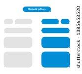 message bubbles design template ... | Shutterstock .eps vector #1385653520