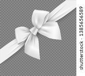 white realistic 3d bow and... | Shutterstock .eps vector #1385656589