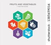simple set of berries  onion ... | Shutterstock .eps vector #1385659016