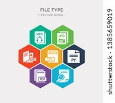 simple set of doc  pdf  py  csv ... | Shutterstock .eps vector #1385659019
