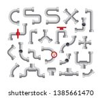 pipelines vector element. pipes ... | Shutterstock .eps vector #1385661470