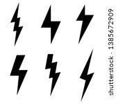 thunderbolt and high voltage... | Shutterstock .eps vector #1385672909