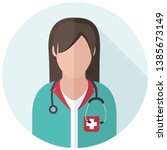vector medical icon woman... | Shutterstock .eps vector #1385673149