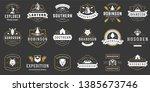 camping logos templates vector... | Shutterstock .eps vector #1385673746
