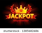jackpot gold casino lotto label ... | Shutterstock .eps vector #1385682686