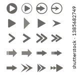 arrows vector collection... | Shutterstock .eps vector #1385682749