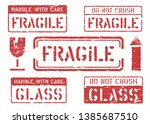 fragile  this way up  handle...   Shutterstock .eps vector #1385687510