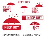 keep dry  handle with care ... | Shutterstock .eps vector #1385687549