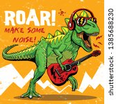 Cool Dinosaur Playing Guitar...