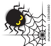 spider and cobweb | Shutterstock .eps vector #138568880