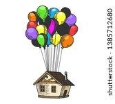 fantastic fabulous house is... | Shutterstock .eps vector #1385712680