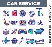 car service linear vector icons ... | Shutterstock .eps vector #1385714069