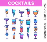cocktails  alcohol and soft... | Shutterstock .eps vector #1385714093