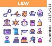 law and order linear vector... | Shutterstock .eps vector #1385714153