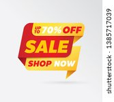 vector sale banner template... | Shutterstock .eps vector #1385717039