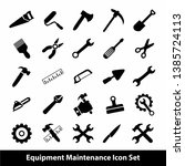 equipment maintenance icon set  ... | Shutterstock .eps vector #1385724113