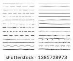 lines hand drawn vector set... | Shutterstock .eps vector #1385728973