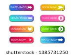 set of eight modern gradient... | Shutterstock .eps vector #1385731250