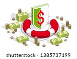 financial safety and protection ... | Shutterstock .eps vector #1385737199