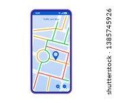 traffic jam map smartphone...