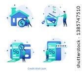 illustration credit and loan... | Shutterstock .eps vector #1385747510