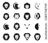 lion faces heraldic elements... | Shutterstock .eps vector #1385748749