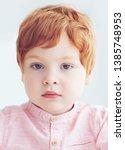 Close Up Portrait Of Redhead...