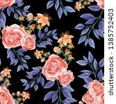 seamless watercolor... | Shutterstock . vector #1385752403