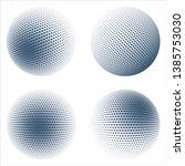 halftone sphere design elements ... | Shutterstock .eps vector #1385753030
